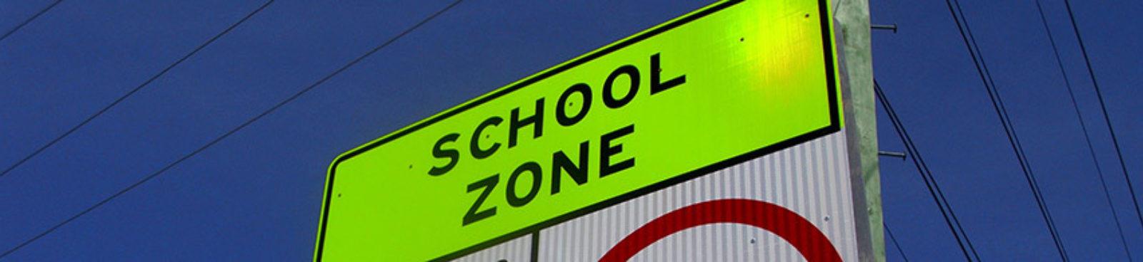 New Fluorescent School Zone Sign Blog