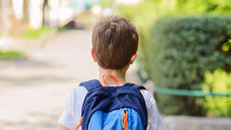 Boy Walking Home Alone